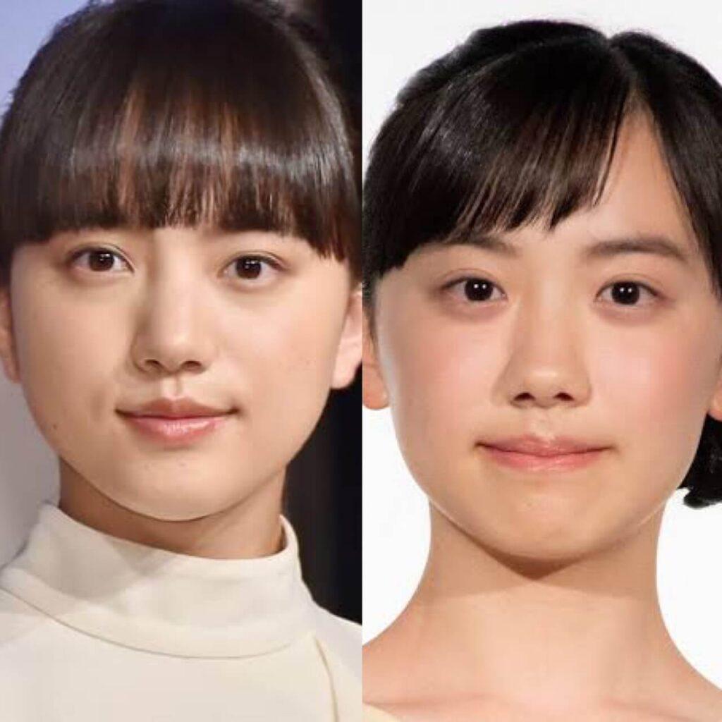 清原果耶 芦田愛菜 真顔
