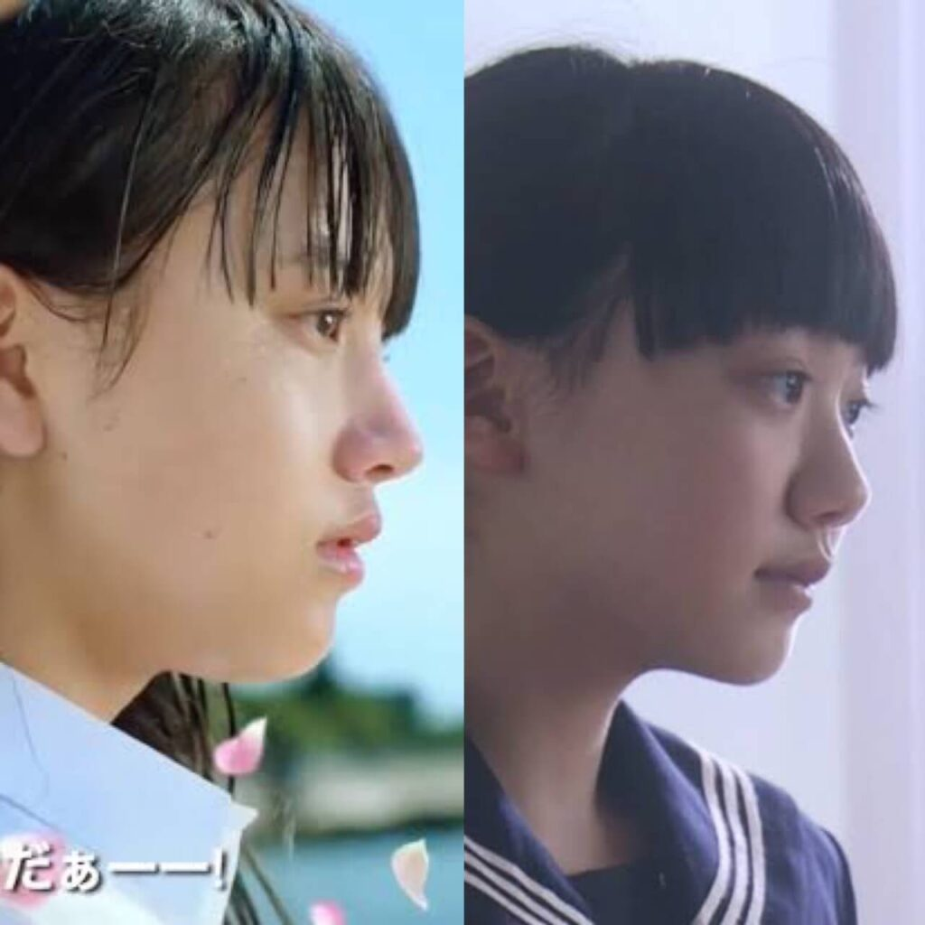 清原果耶 芦田愛菜 横顔